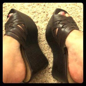 Jessica Simpson Leather Wedges